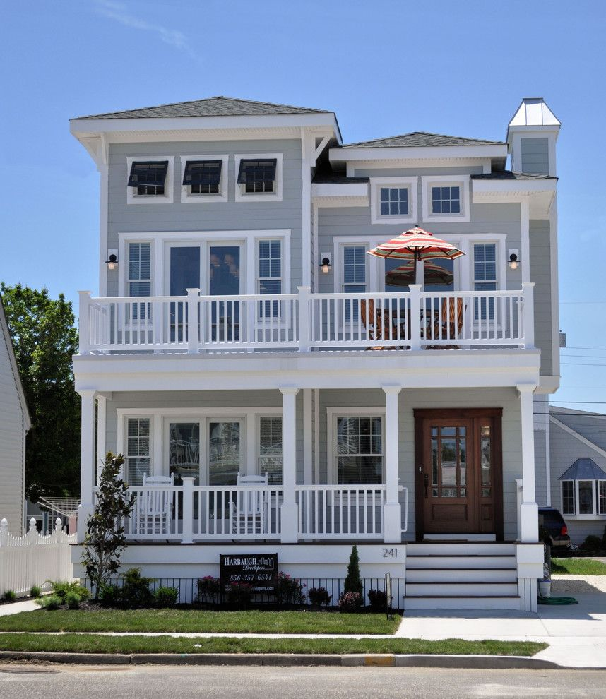 Lemieux Doors for a Beach Style Exterior with a Beach Style and Cottage 109, Stone Harbor Nj by Bishop and Smith Architects
