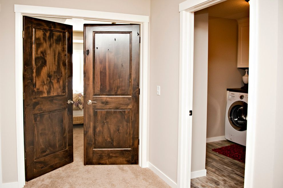 Lemieux Doors for a Modern Spaces with a Knotty Alder and Parent Builders Inc, Spring Parade of Homes by Heritage Millwork Inc