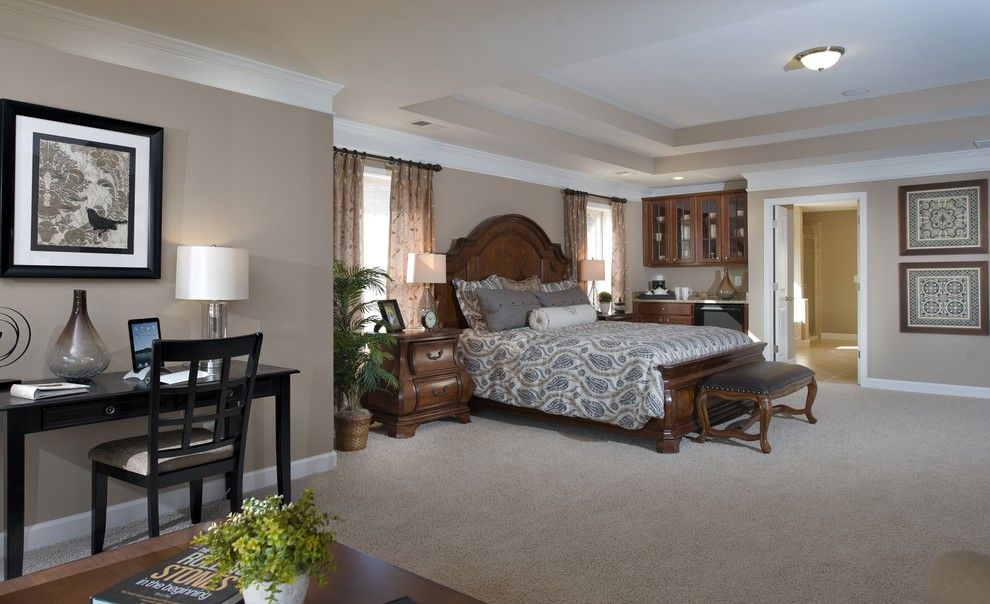 Lennar Atlanta for a Transitional Bedroom with a Reading Area and Owners Retreat by Lennar Atlanta