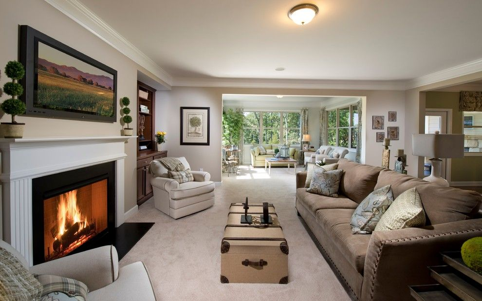 Lennar Atlanta for a Transitional Family Room with a Built in Bookcases and Family Room by Lennar Atlanta