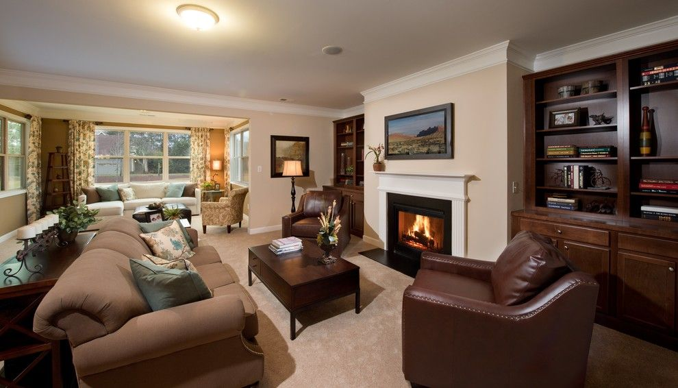 Lennar Atlanta for a Transitional Family Room with a Fireplace and Family Room by Lennar Atlanta