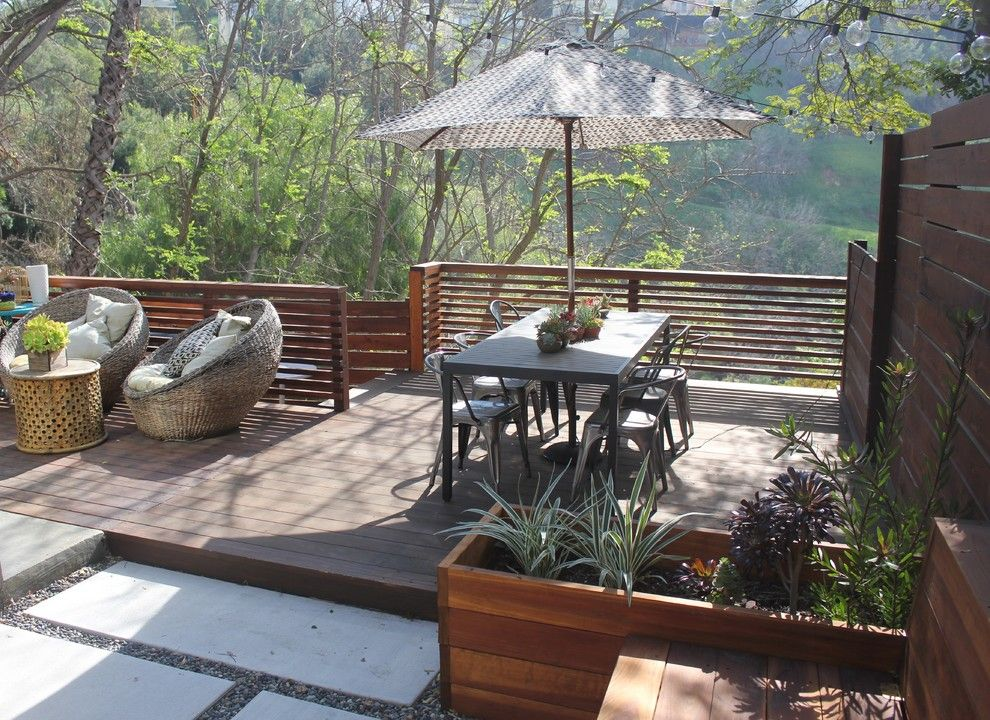 Levin Furniture for a Contemporary Deck with a My Houzz and My Houzz: Cool, Eclectic Style for a Los Angeles Family Home by Stacy Levin