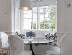Levin Furniture for a Traditional Kitchen with a White Lacquer and Greenwich Residence by Tiffany Eastman Interiors, LLC