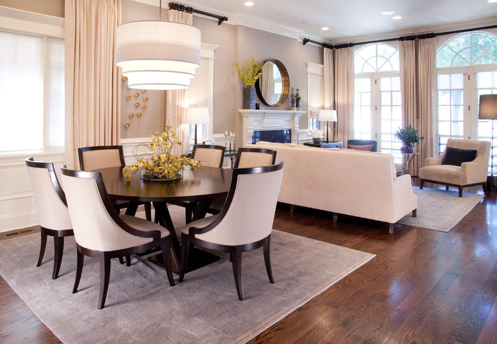 Lexington Overstock for a Transitional Dining Room with a Wainscoting and Urban Sophisticate  Transitional Home in Wrigleyville by Lisa Wolfe Design, Ltd