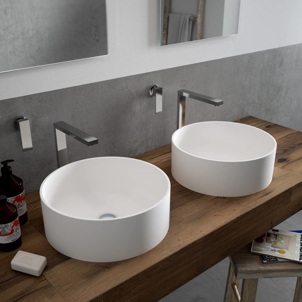 Lg Hausys for a Contemporary Bathroom with a Acrylique and Nouvelles Vasques Lg Hausys by Mobistrat Lg Hausys