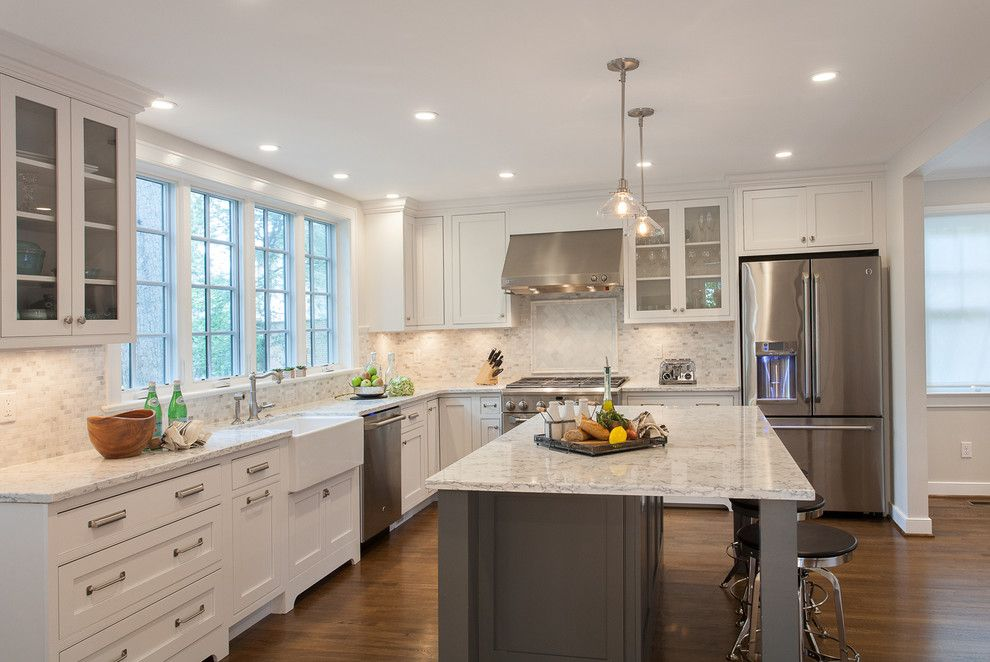 Lg Viatera for a Traditional Kitchen with a Interior Designer and Bethesda Two Story Addition   Coty Winner by Grossmueller's Design Consultants