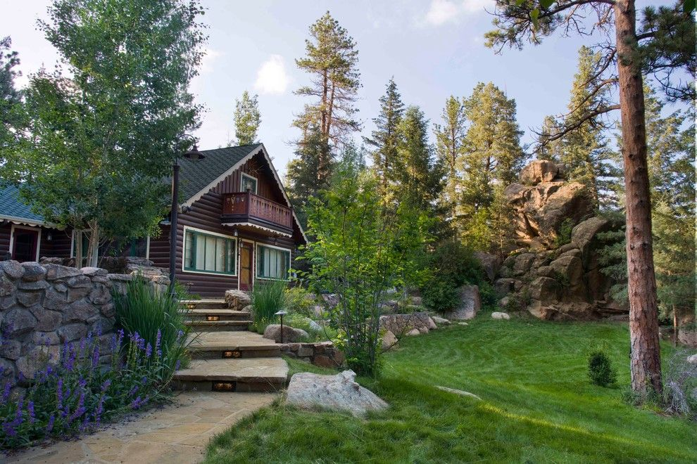 Lifescapes for a Rustic Landscape with a Mountain Landscape Architect and Mountain Retreat by Lifescape Colorado.