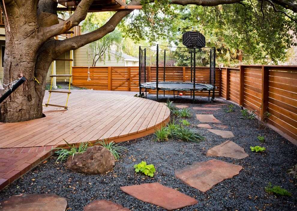 Lifescapes for a Traditional Landscape with a Treehouse and Los Altos Hills  Rustic Modern by Lifescape Custom Landscaping, Inc.