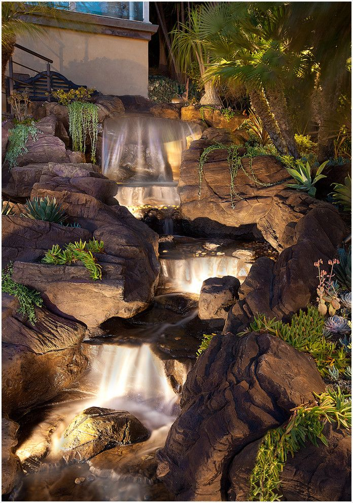 Lifescapes for a Tropical Landscape with a Flagstone and Hanging Gardens of Laguna by Lifescape Designs