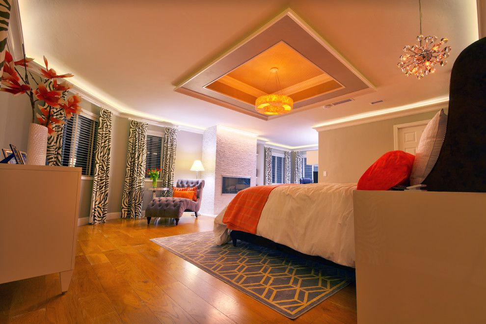 Lightingdirect.com for a Contemporary Bedroom with a Coved Ceiling and Master Bedroom Cove Ceiling Design by Environmentallights.com