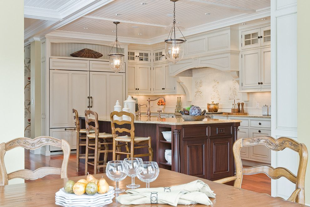 Lightingdirect.com for a Traditional Kitchen with a Pendant Lighting and Sudbury Kitchen by Venegas and Company