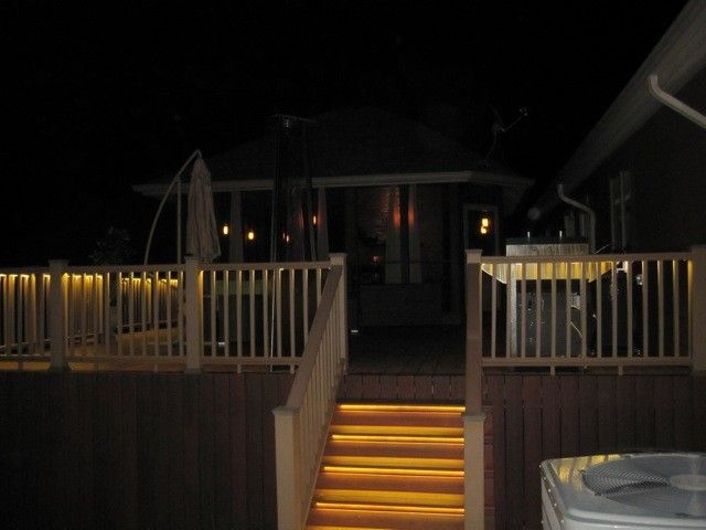 Lightingdirect.com for a Traditional Porch with a Dimmable Lights and Deck and Balcony Design with Led Lighting by Environmentallights.com