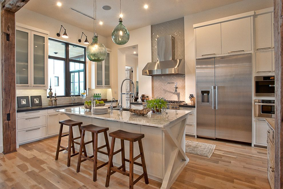 Lightingdirect.com for a Transitional Kitchen with a Wood Counter Stools and Cat Mountain Residence by Cornerstone Architects