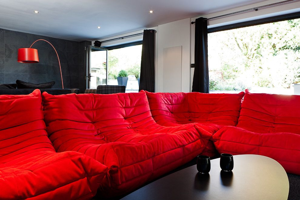 Ligne Roset for a Contemporary Spaces with a Togo Sofa and Wickets by Boutique Homes