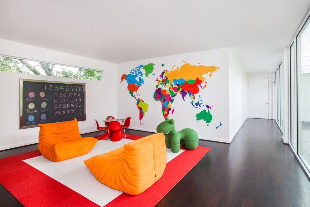 Ligne Roset Nyc for a Contemporary Kids with a Tapis Rouge Blanc and Memorial Park Modern by Laura U, Inc.