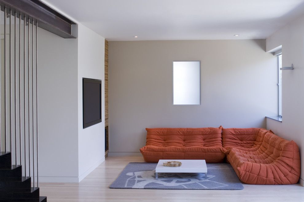 Ligne Roset Nyc for a Modern Family Room with a Recessed Lighting and Modern Family Room by Johnlumarchitecture.com