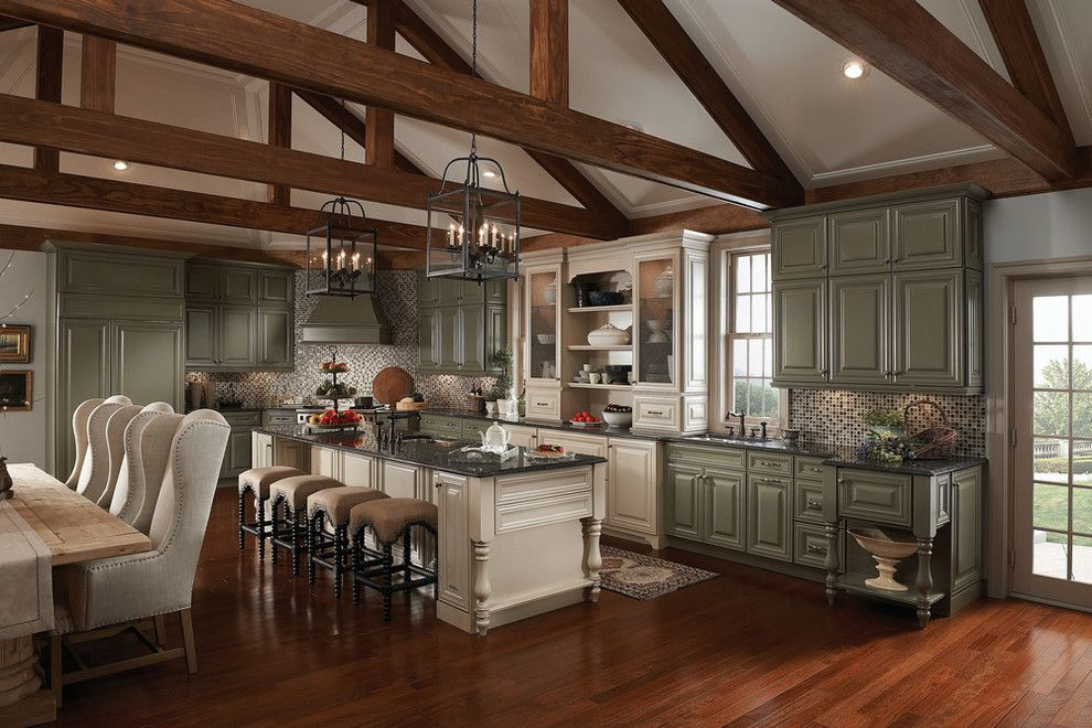 Lily Ann Cabinets for a Traditional Spaces with a American Classics Kitchen Cabinets and Classic Traditional Kitchen Cabinets Style by Lily Ann Cabinets