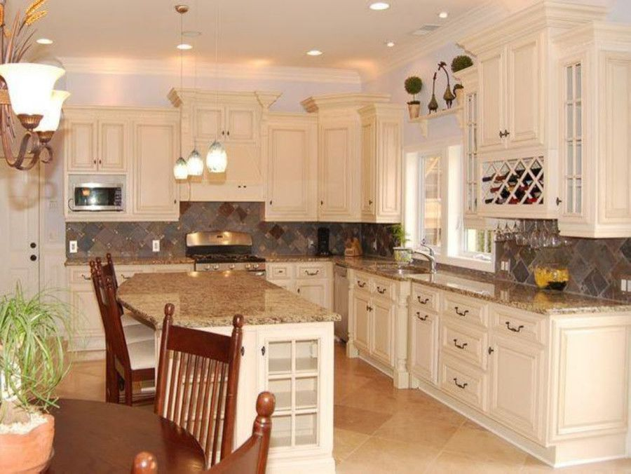 Lily Ann Cabinets for a Traditional Spaces with a Antique White Cabinets and Granite Antiq and Antique White Kitchen Cabinets Home Design by Lily Ann Cabinets