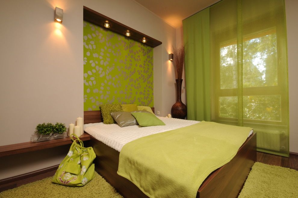 Lime Lush Boutique for a Contemporary Bedroom with a Matelasse Bed Cover and Art&deco by Art&deco