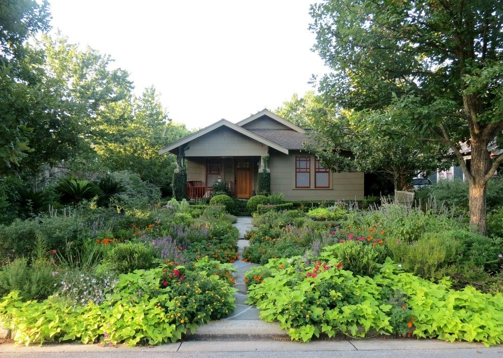 Lime Lush Boutique for a Craftsman Landscape with a Path and Zero Lawn Xeriscape by David Morello Garden Enterprises, Inc.