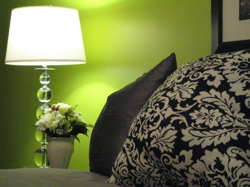 Lime Lush Boutique for a Eclectic Bedroom with a Damask and Green Chic by Tlc Designs