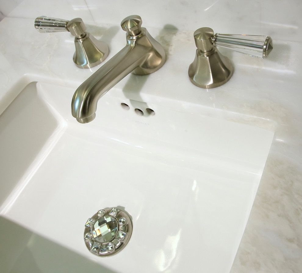 Linkasink for a Traditional Bathroom with a Kohler Sink and Bertch Northbrook by Best Plumbing Tile & Stone