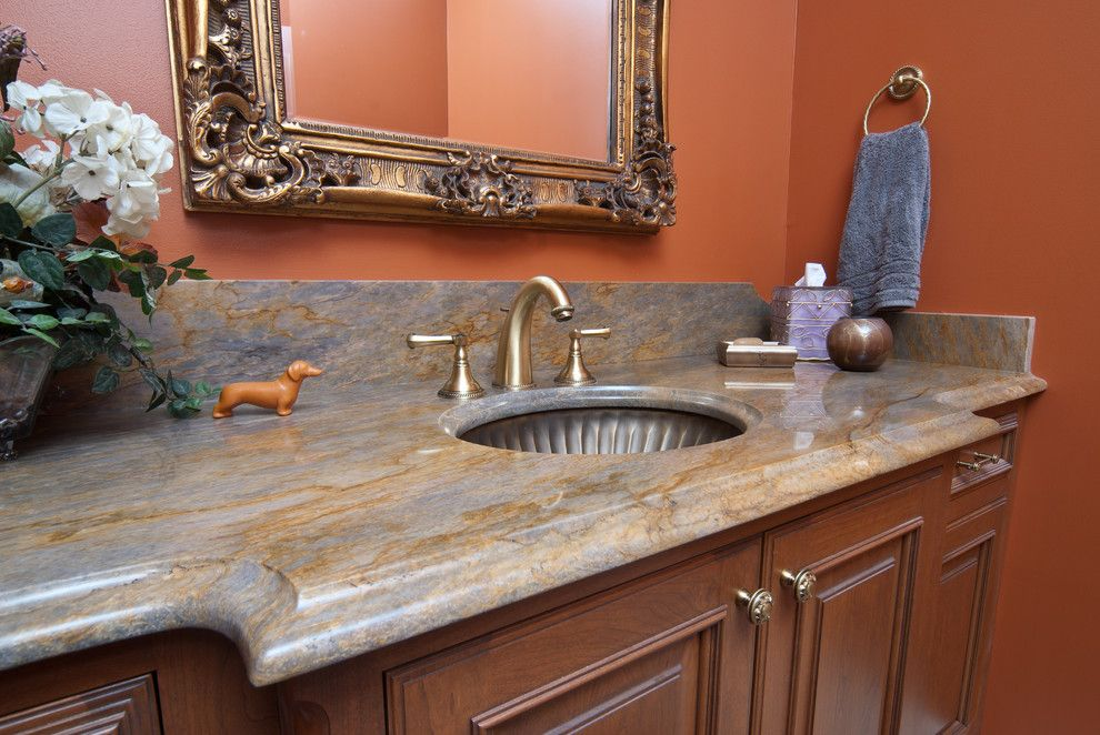 Linkasink For A Traditional Powder Room With A Traditional And Powder Room  Surgery By Kitchens Unlimited