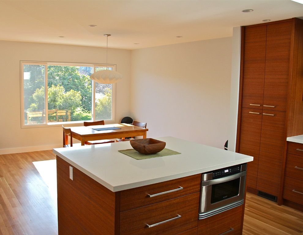 Linnea Hardware for a Modern Kitchen with a Recessed Lighting and Kitchen and Dining/living Room Remodel by Cardea Building Co.