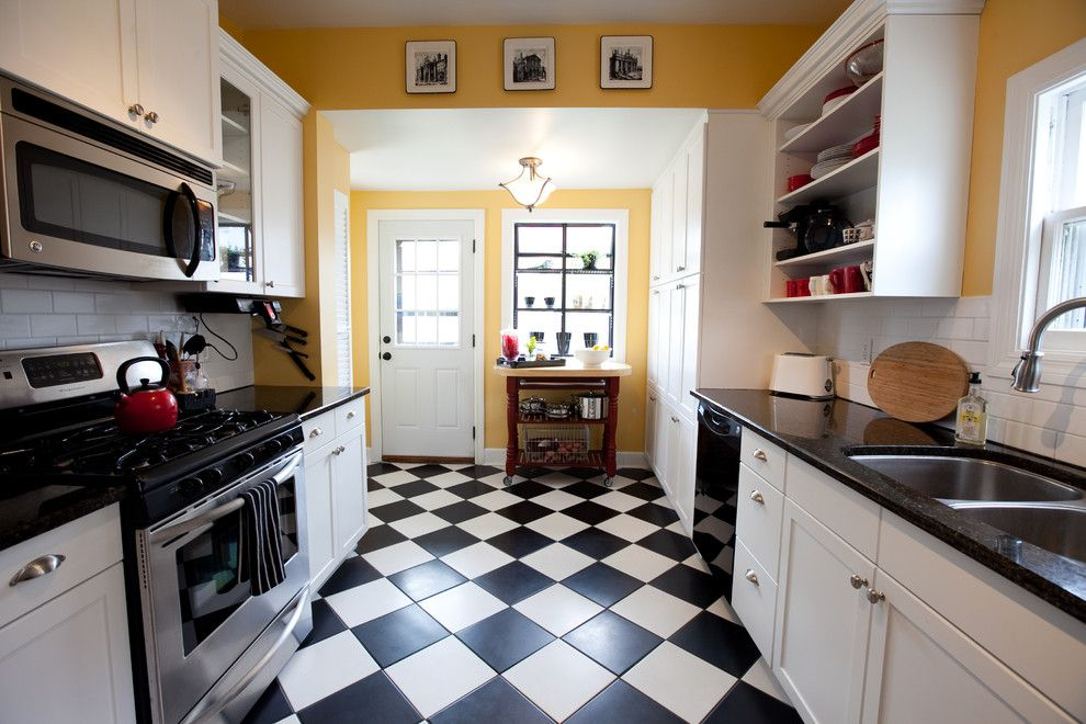 Linoleum vs Vinyl for a Traditional Kitchen with a Drawer Pulls and Remodeled Kitchen by Jessica Mckay