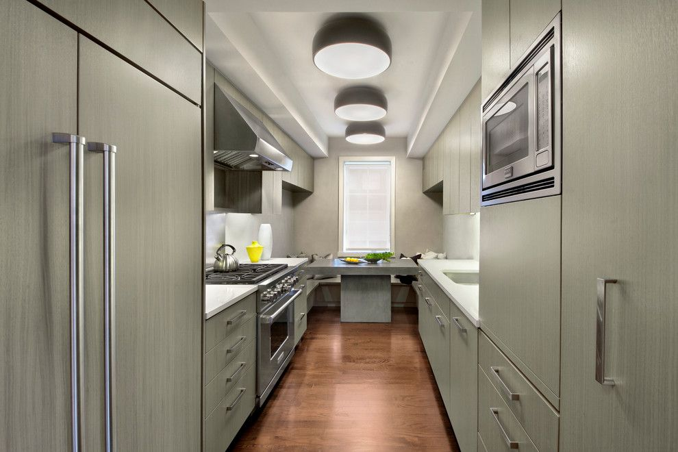 Lockwood Flooring for a Contemporary Kitchen with a 3 Ceiling Lights and Leroy Street by Specht Architects
