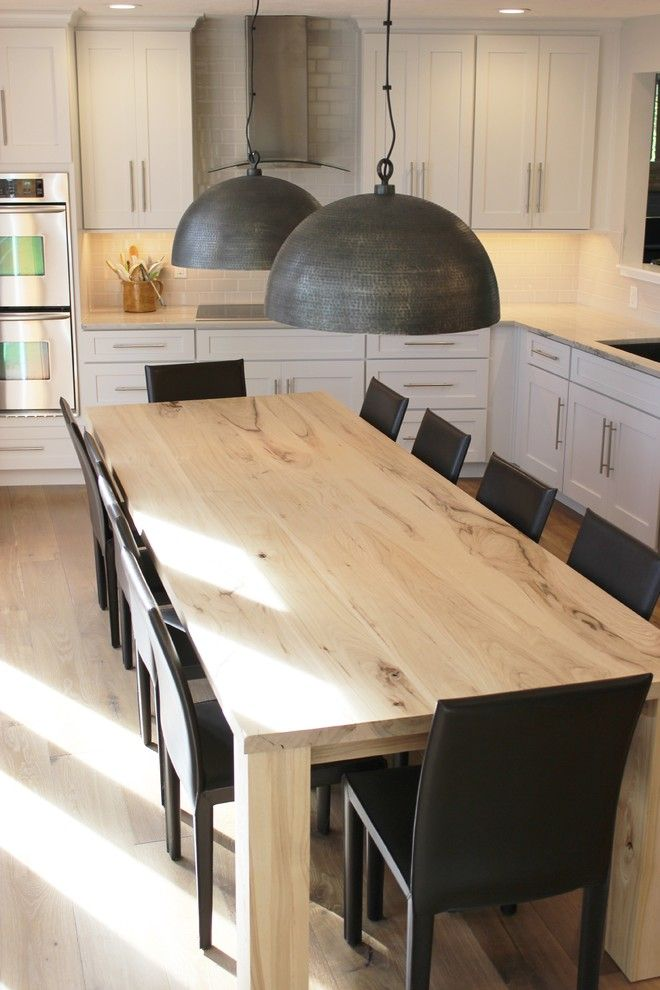 Lockwood Flooring for a Transitional Kitchen with a Interesting Kitchen Shapes and Bettendorf, Ia  Kitchen Remodel with Interesting Angled Layout by Village Home Stores