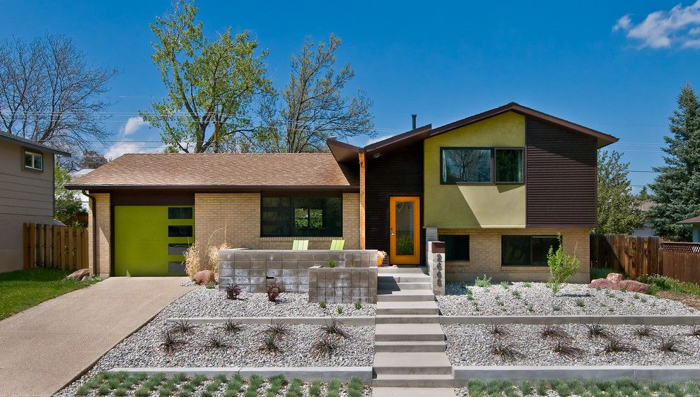 Loll Designs for a Midcentury Exterior with a Brown Metal Siding and Olsen Residence by Workshop8 Architecture Planning Design