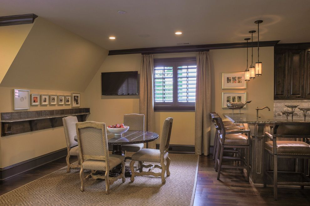 Lorts Furniture for a Traditional Home Theater with a Durham Designs Consulting and Media Room by Durham Designs & Consulting, Llc