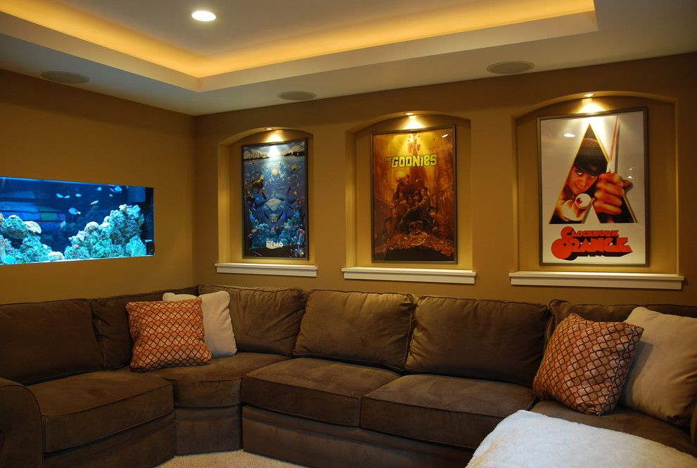 Los Gatos Theater for a Contemporary Home Theater with a Contemporary and Small Home Theater by Level Design Studios