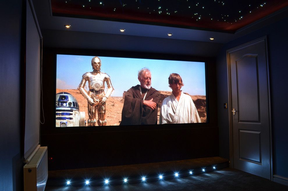 Los Gatos Theater for a Modern Home Theater with a Fiber Optics and Home Cinema by Njpollard