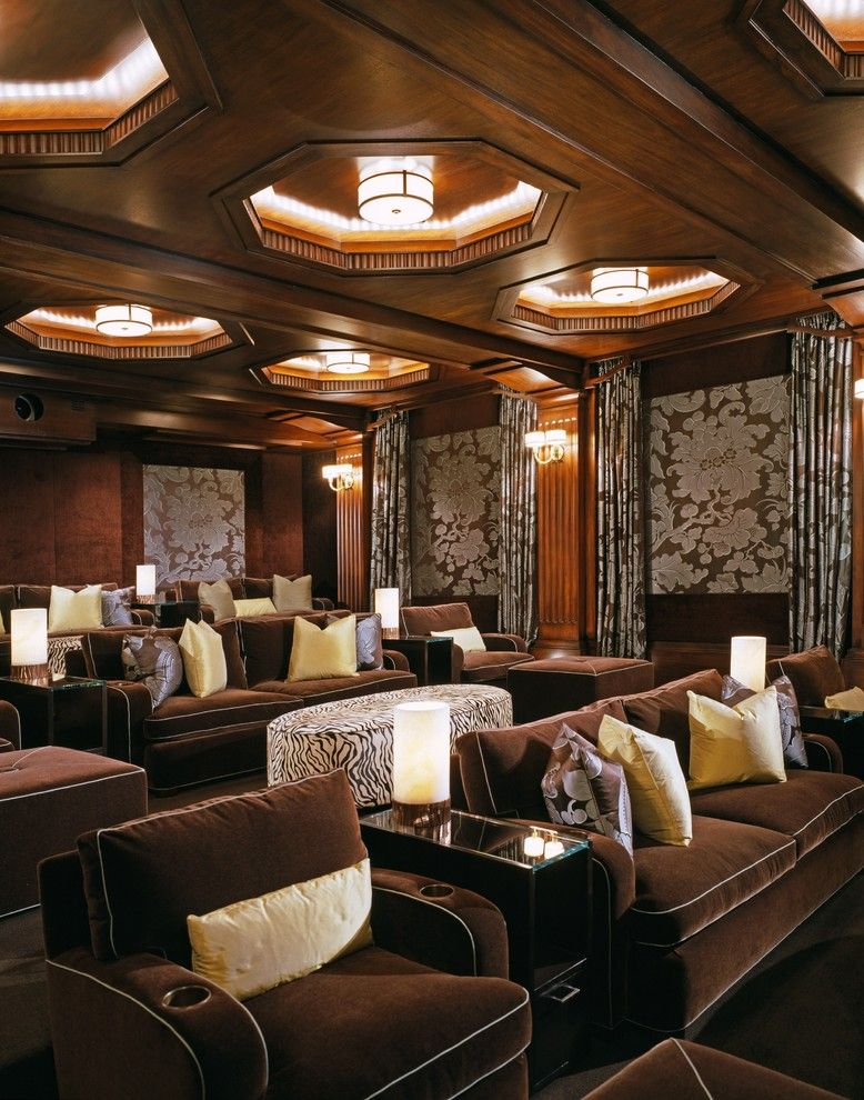Los Gatos Theater for a Traditional Home Theater with a Beverly Park and Los Angeles Home Theaters by via – Los Angeles