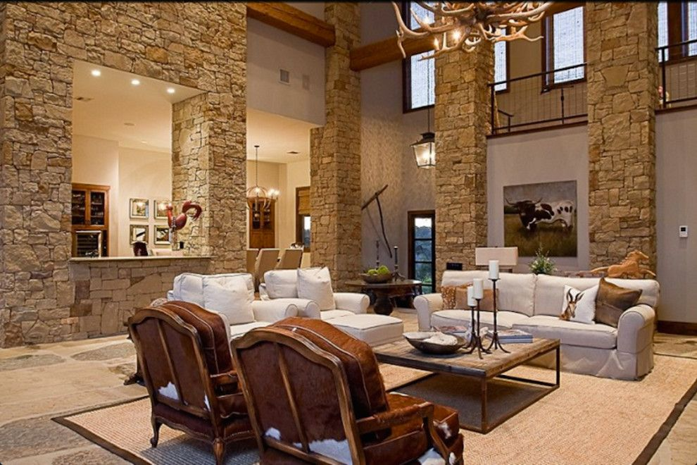 Lotts Furniture for a Rustic Living Room with a Rustic Furniture and Lake Travis Residence by Katheryn Lott Architects