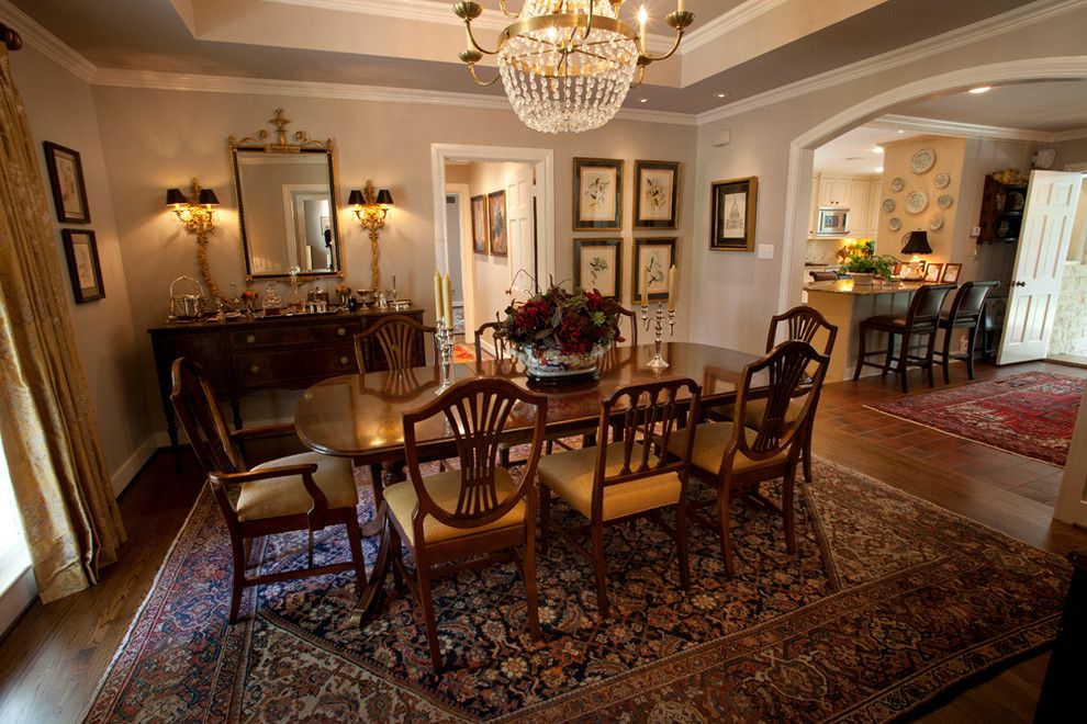 Lotts Furniture for a Traditional Dining Room with a Traditional and Private Residence by Larry Lott Interiors
