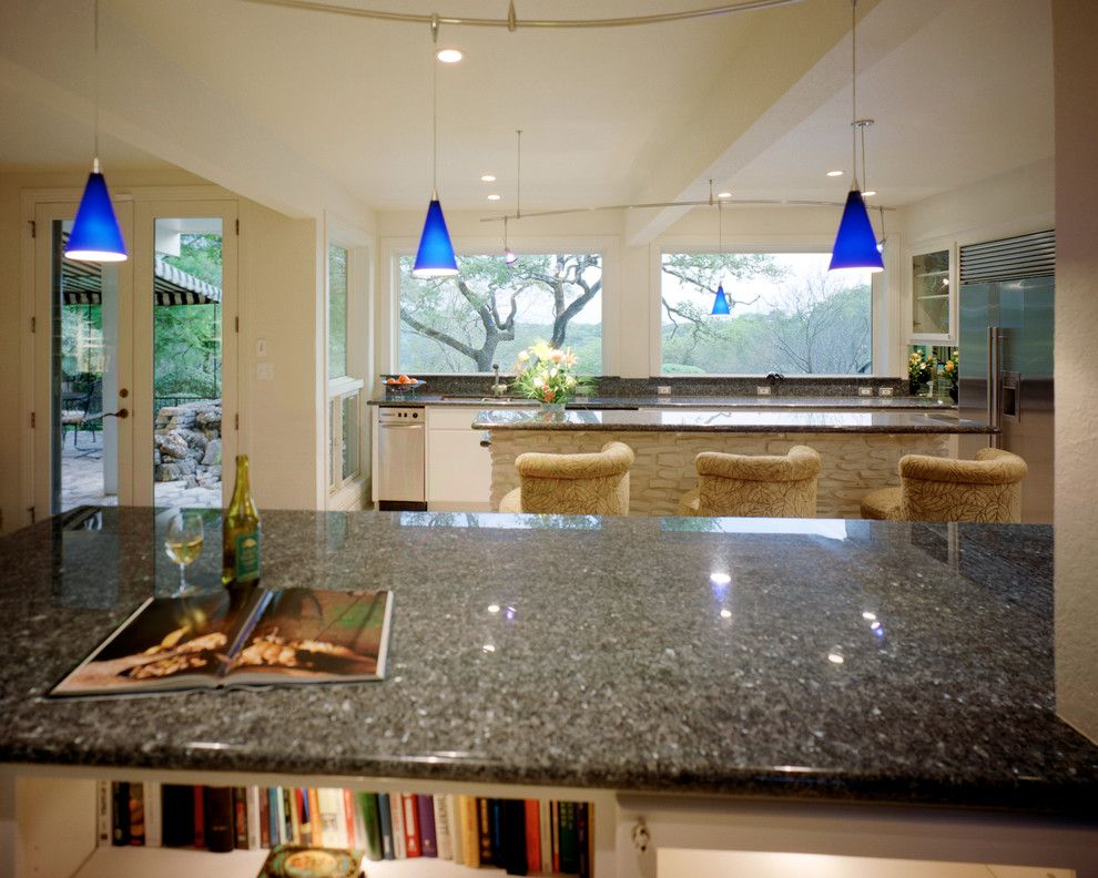 Lotts Furniture for a Transitional Kitchen with a Lueders Limestone and Remodel Westlake Hills by Katheryn Lott Architects