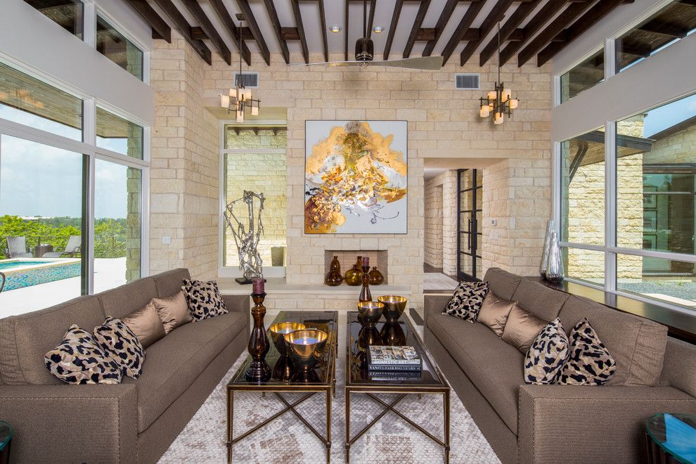 Louis Shanks for a Contemporary Living Room with a 2015 Parade of Homes and 2015 Parade of Homes by Matt Sitra Custom Homes