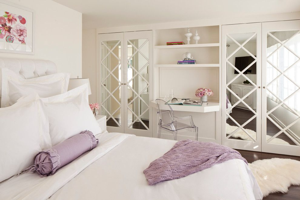 Louis Shanks for a Traditional Bedroom with a Light Purple Throw and Sunset Plaza by Smith Firestone Associates