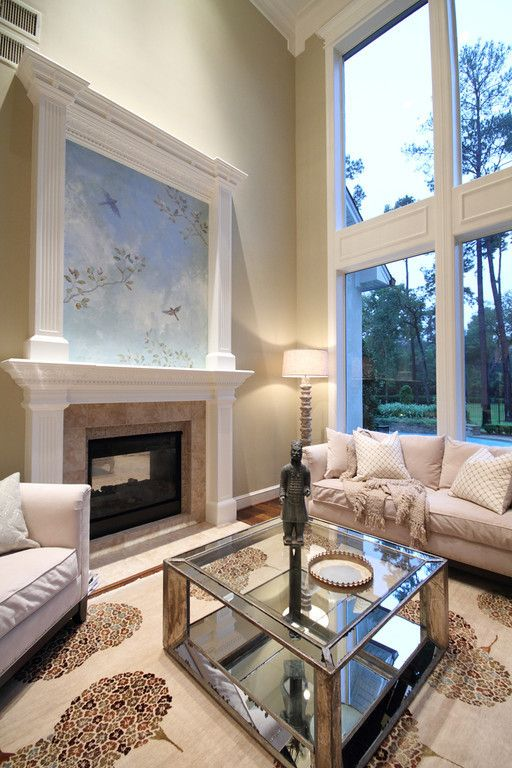 Louis Shanks for a Traditional Living Room with a Fire Place and French Country Living Room by Pamela Hope Designs