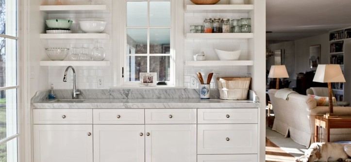 Louisville Tile for a Traditional Kitchen with a Chunky Shelves and Baking Center by Rock Paper Hammer