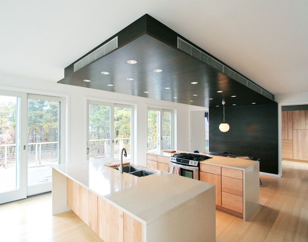Lowes Albany Ny for a Modern Kitchen with a Dark Stained Wood and Peconic Bay House Kitchen by Resolution: 4 Architecture