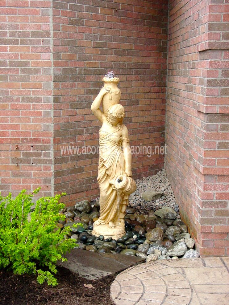 Lowes Albany Ny For A Traditional Landscape With A Bubbling Urns And  Fountains, Garden Fountains