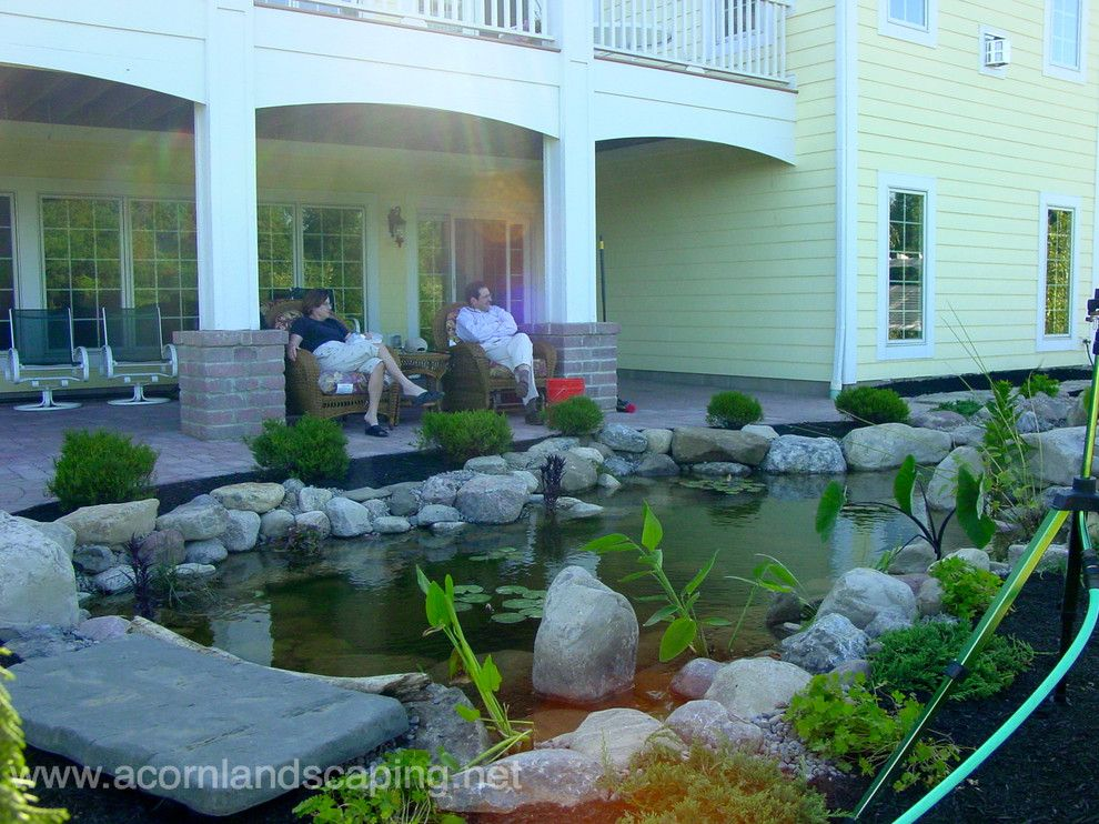 Lowes Albany Ny for a Traditional Landscape with a Koi Ponds and Garden Ponds, Fish Ponds, Koi Ponds, Waterfall Ponds Rochester Ny by Acorn by Acorn Ponds & Waterfalls