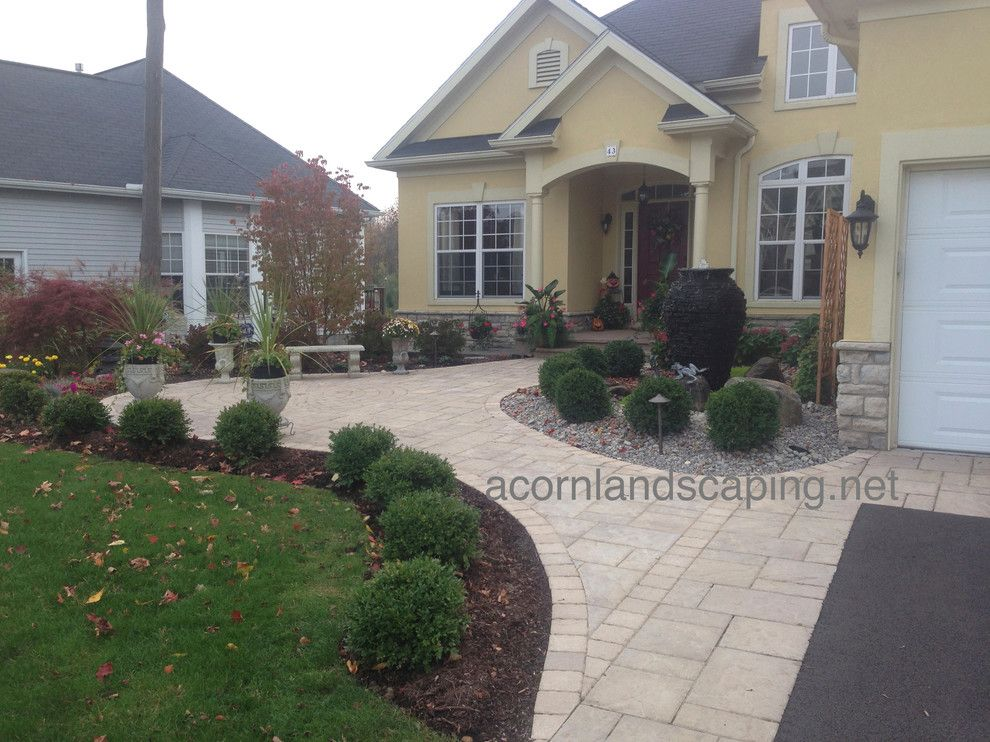 Lowes Albany Ny For A Traditional Landscape With A Victor Ny And Front Yard Landscape Designs