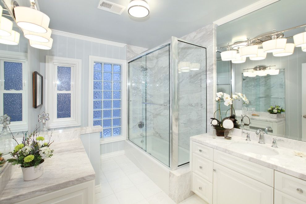 Lowes Bathroom for a  Bathroom with a Bathroom Lighting and Bathrooms by V.i.photography & Design