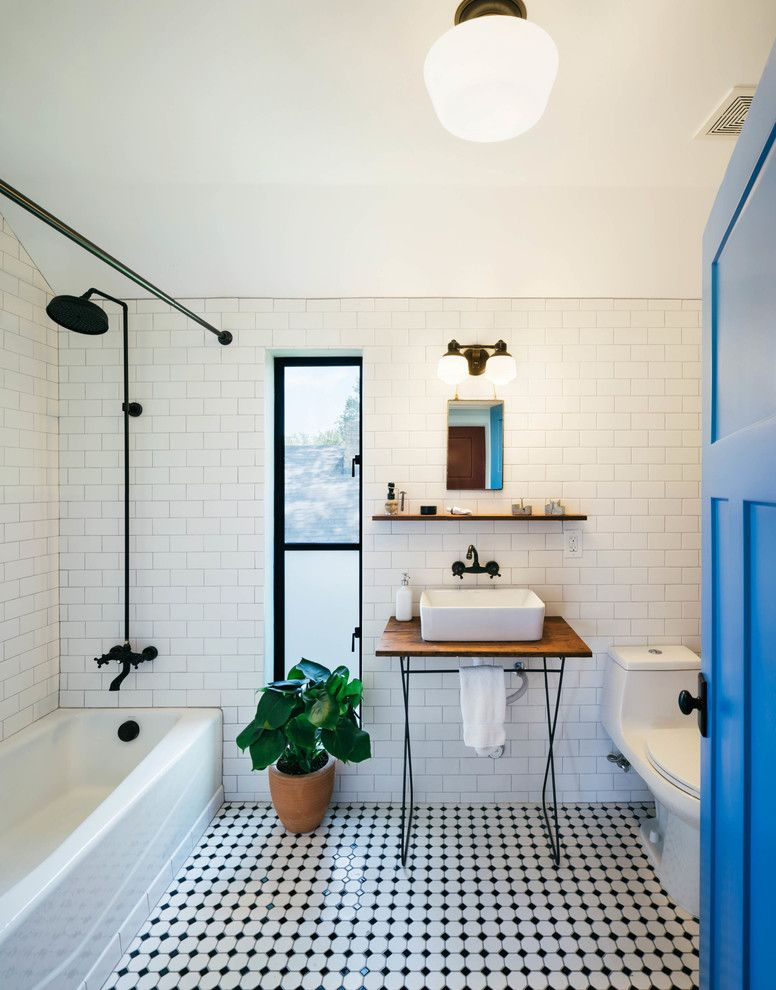 Lowes Bathroom for a Industrial Bathroom with a Wire Base and Garden St. Residence by Pavonetti Office of Design