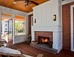 Lowes Bathroom for a Traditional Sunroom with a Wicker Patio Furniture and Changing History by Teakwood Builders, Inc.